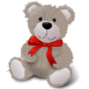 TeddyBear RedRibbon Emoticon