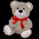 Teddybear Redribbon Emoticon
