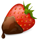 Strawberry Chocolate Emoticon