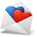 MailEnvelope Hearts BlueRed Emoticon