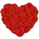 Flowers Heart Roses Emoticon