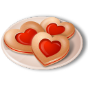 Cookies Hearts Emoticon