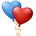 Balloons Hearts Emoticon