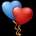 Balloons Hearts Emoticon