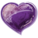 Heart Violet Emoticon