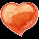 Heart Orange Emoticon