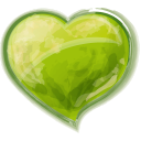 Heart Green Emoticon