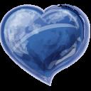 Heart Blue Emoticon