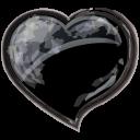 Heart Black Emoticon