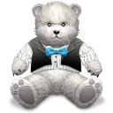 Gift Light Grey Bear Emoticon