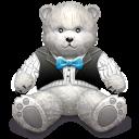 Gift Light Grey Bear Emoticon