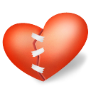 Heart Patched Emoticon