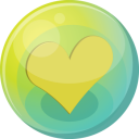 Heart Yellow 5 Emoticon