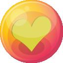 Heart Yellow 4 Emoticon