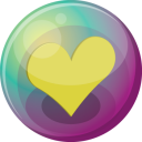 Heart Yellow 3 Emoticon