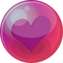 Heart Purple 6 Emoticon