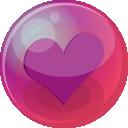 Heart Purple 6 Emoticon