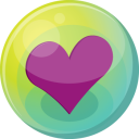 Heart Purple 5 Emoticon