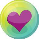 Heart Purple 5 Emoticon