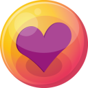 Heart Purple 4 Emoticon