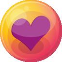 Heart Purple 4 Emoticon