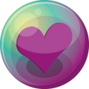 Heart Purple 3 Emoticon