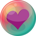 Heart Purple 2 Emoticon