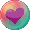 Heart Purple 2 Emoticon