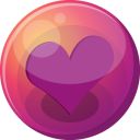 Heart Purple 1 Emoticon