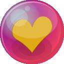 Heart Orange 6 Emoticon