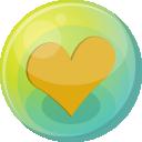 Heart Orange 5 Emoticon