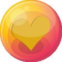 Heart Orange 4 Emoticon