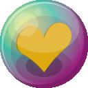 Heart Orange 3 Emoticon