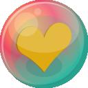 Heart Orange 2 Emoticon