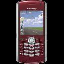 BlackBerry Pearl Red Emoticon