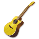 Yellow Guitar Emoticon