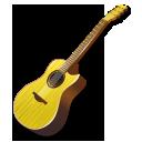 Yellow Guitar Emoticon