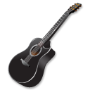 Black Guitar Emoticon