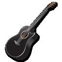 Black Guitar Emoticon