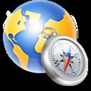 Globe Compass Silver Emoticon