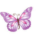 Butterfly Purple Emoticon