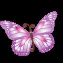 Butterfly Purple Emoticon