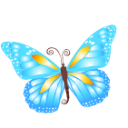 Butterfly Blue Emoticon