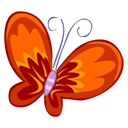 Red Butterfly Emoticon
