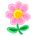 Pink Flower Emoticon