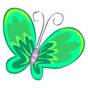 Green Butterfly Emoticon