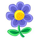 Blue Flower Emoticon