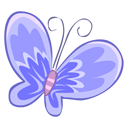Blue Butterfly Emoticon
