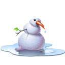 Pool Snowman Emoticon