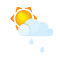 Sun Littlecloud Rain Emoticon